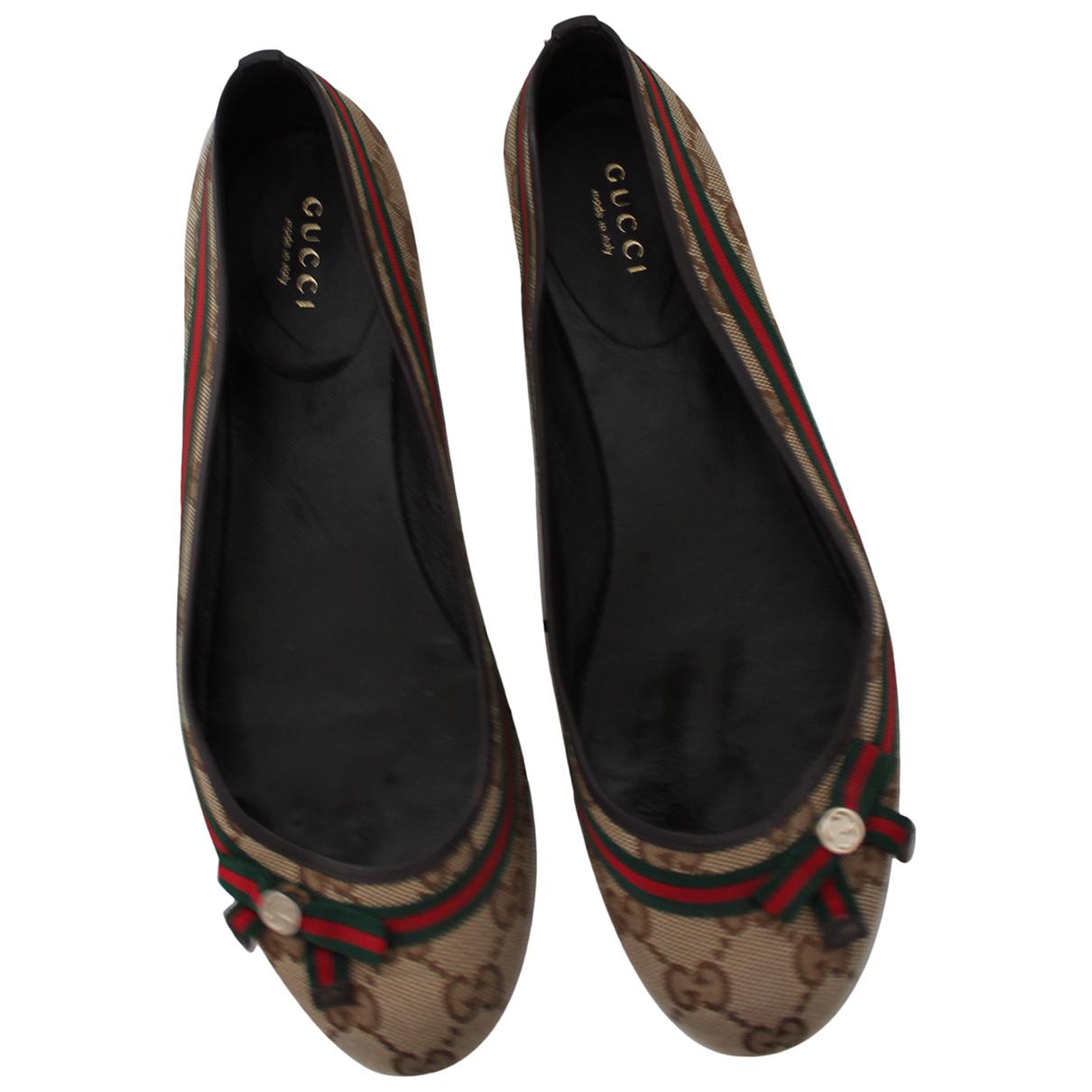 Gucci N Beige Cloth Ballet flats for Women 37 EU