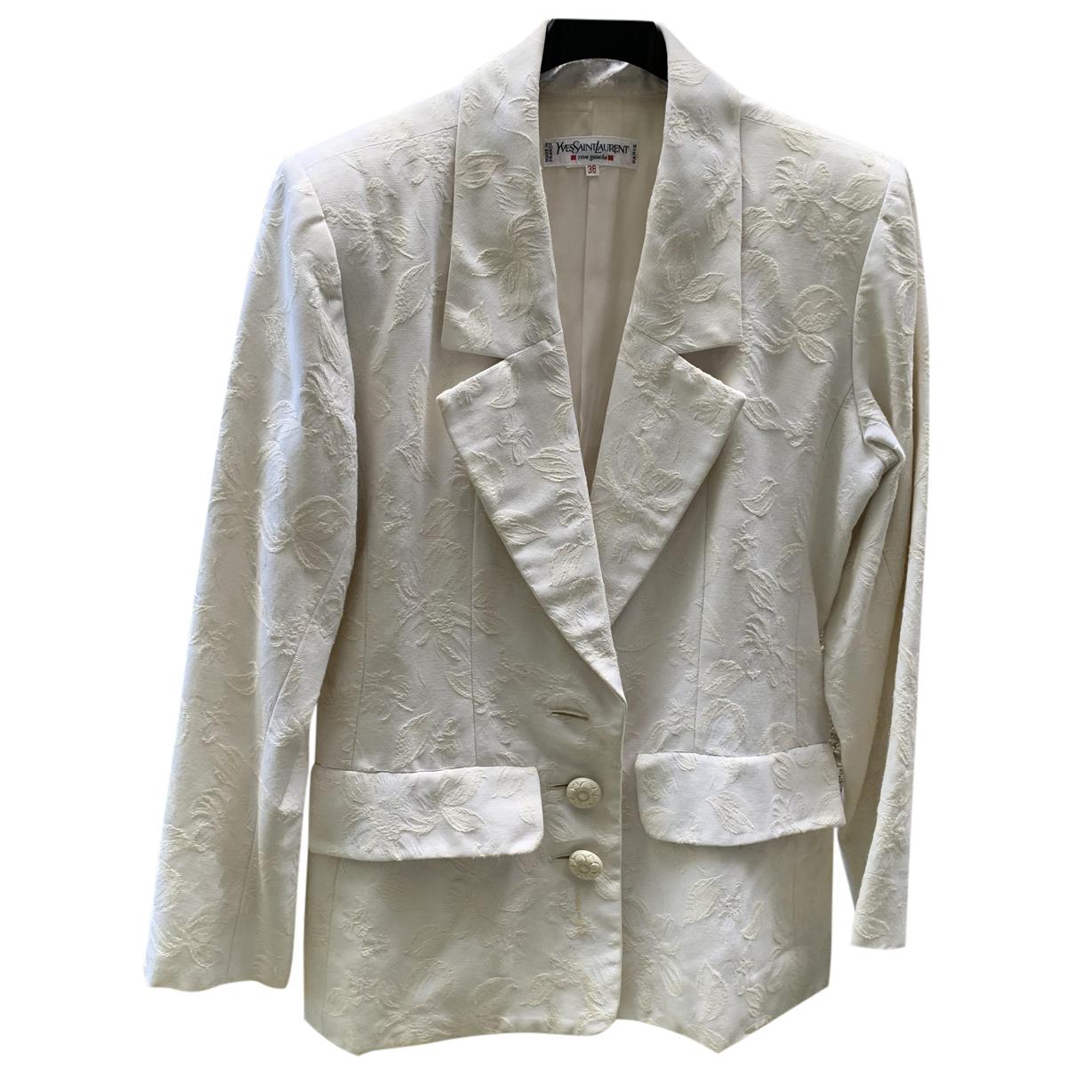 Yves Saint Laurent - Veste   pour femme en coton - ecru