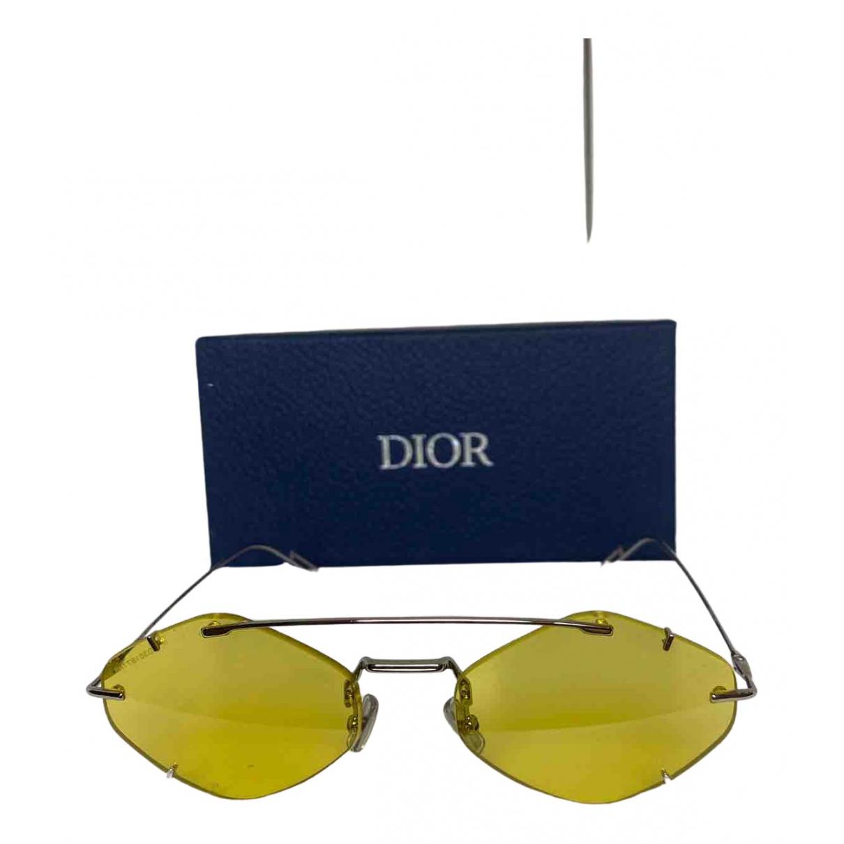 Dior \N Yellow Metal Sunglasses for Men \N