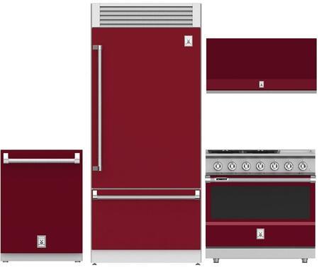 4-Piece Kitchen Appliances Package with KRPR36BG 36