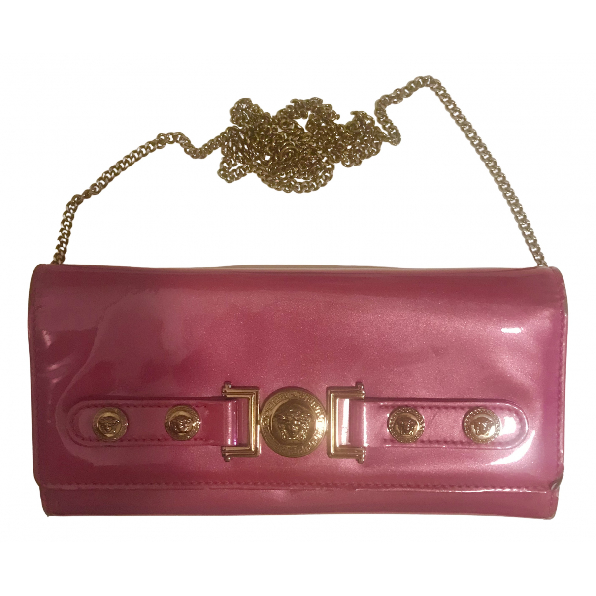Versace \N Clutch in  Rosa Leder