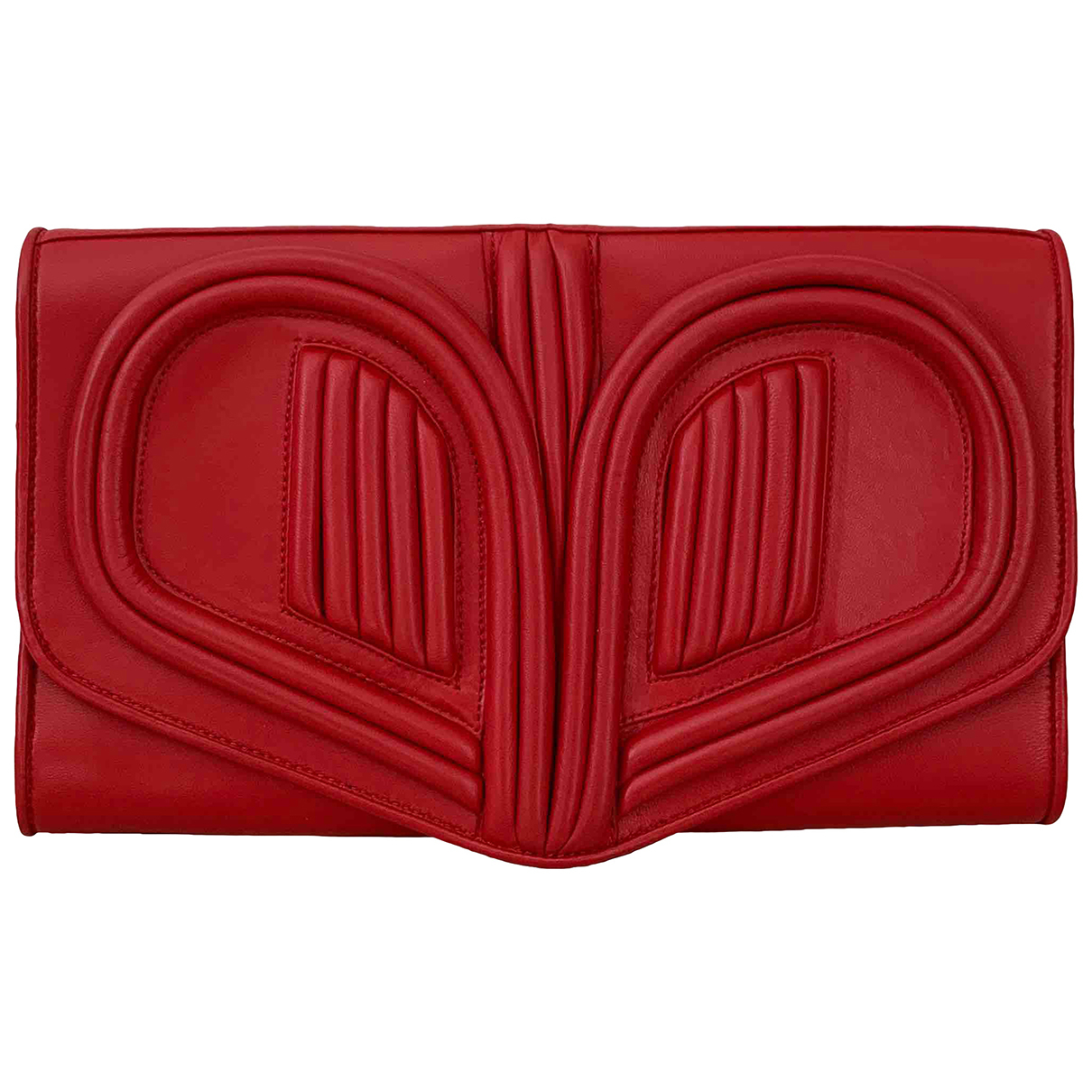 Bora Aksu \N Clutch in  Rot Leder