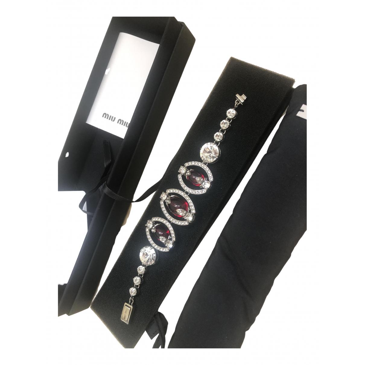 Miu Miu - Bracelet   pour femme en cristal - rouge