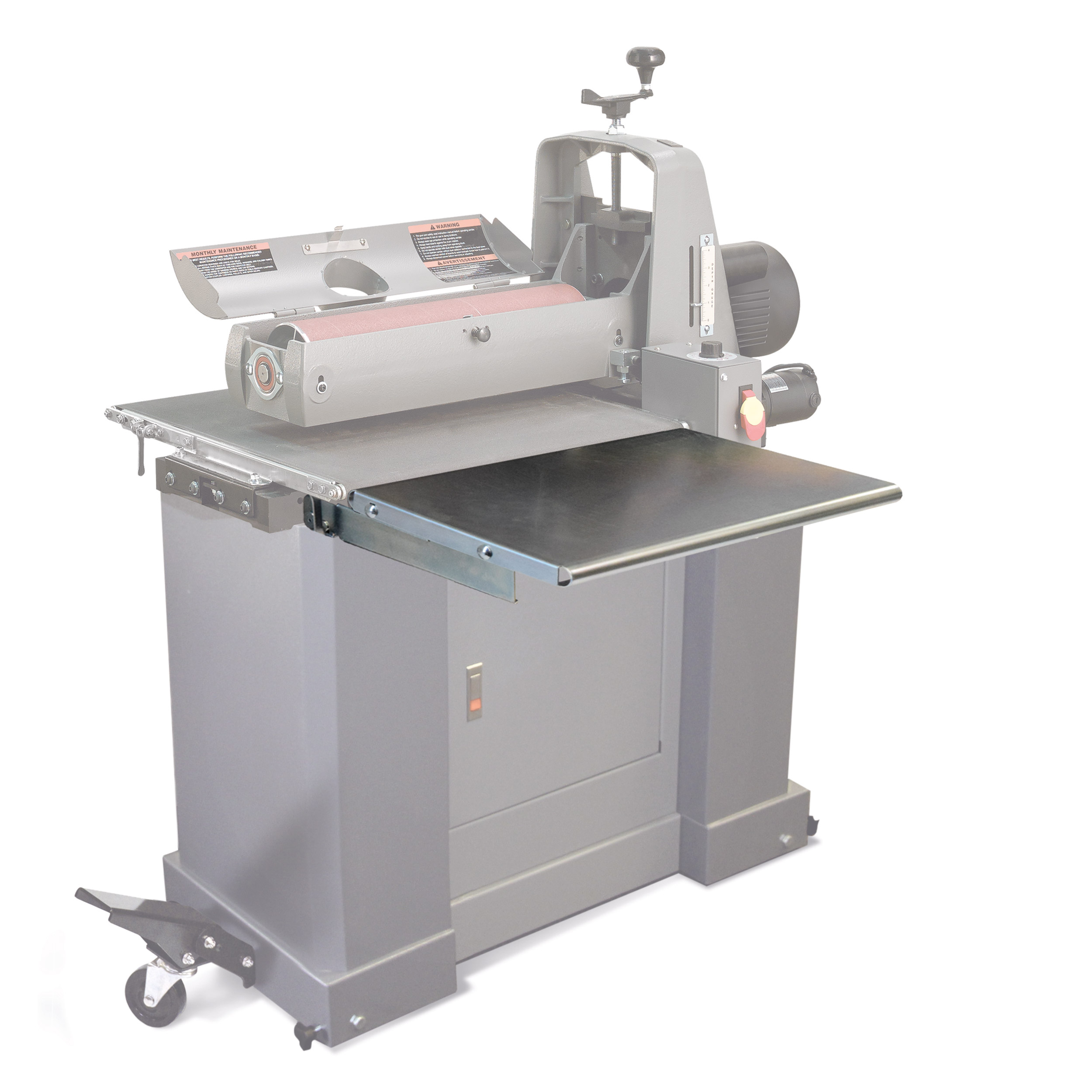 Folding Infeed/Outfeed for 25-50 SuperMax Drum Sander