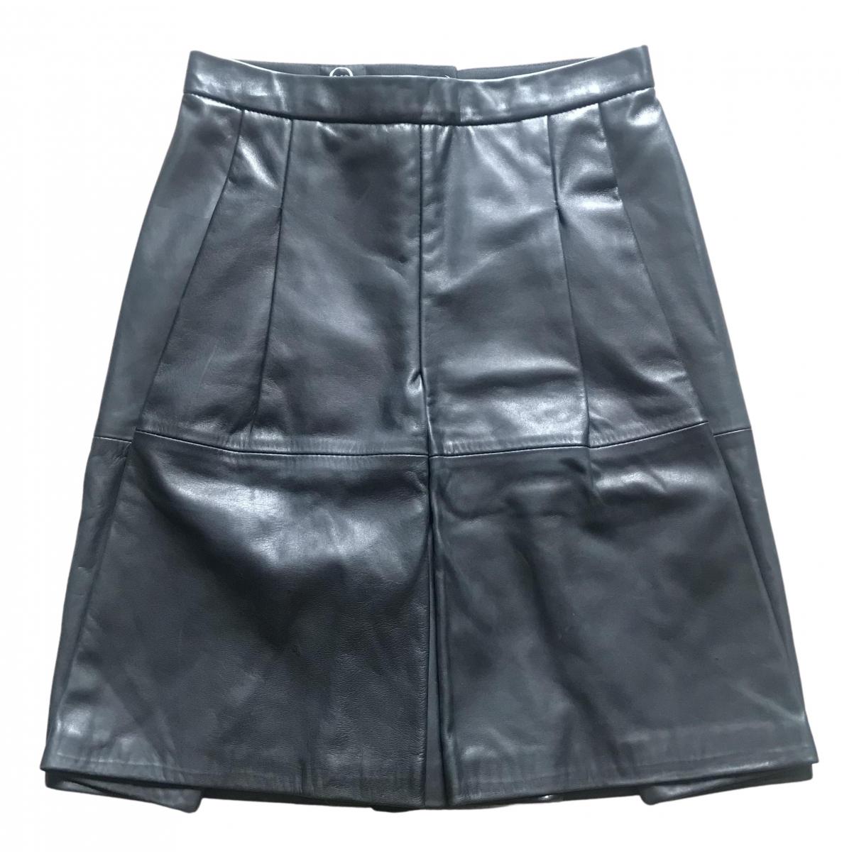 Mcq - Jupe   pour femme en cuir - noir