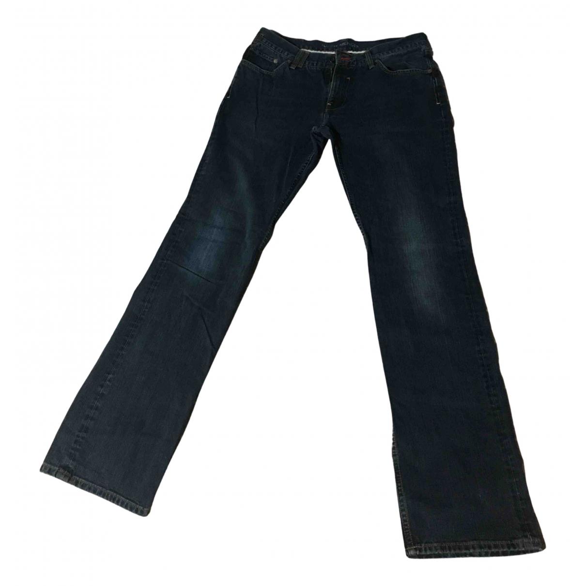 Tommy Hilfiger N Navy Cotton Jeans for Men 33 US