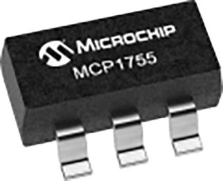 Microchip MCP1755T-3302E/OT, LDO Voltage Regulator Controller, 300mA, 3.3 V 5-Pin, SOT-23 (3000)