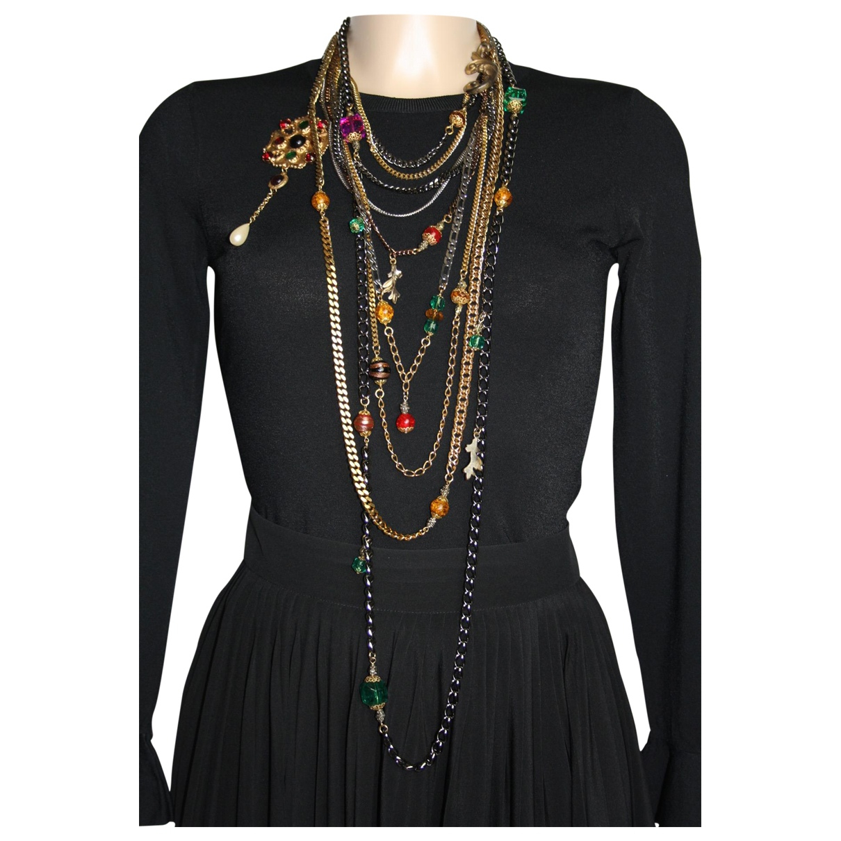 Dolce & Gabbana - Sautoir   pour femme en metal - multicolore