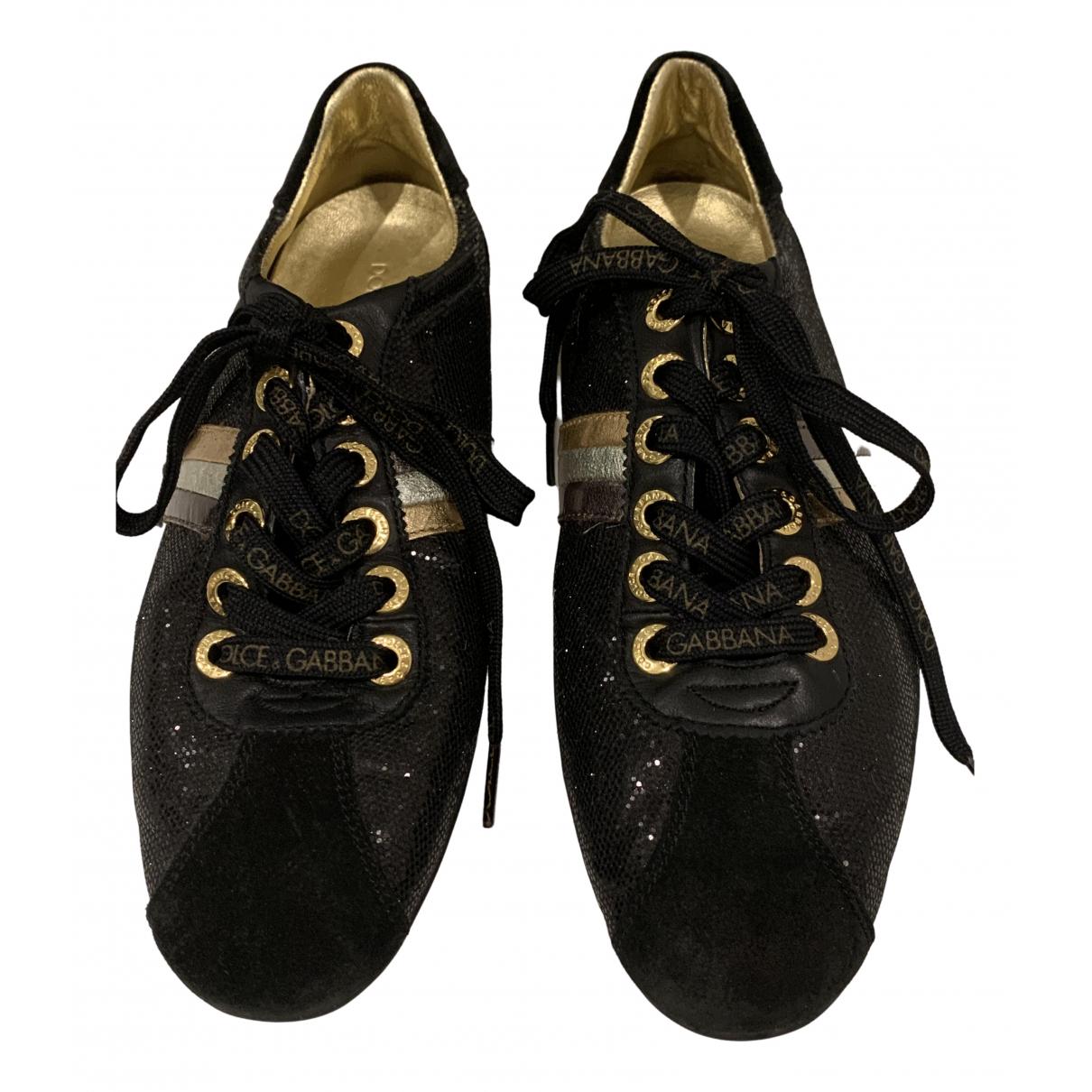 Dolce & Gabbana \N Sneakers in  Schwarz Leinen