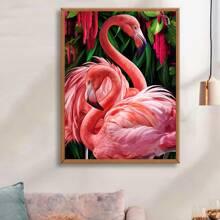 Flamingo Print DIY Diamond Drawing Without Frame