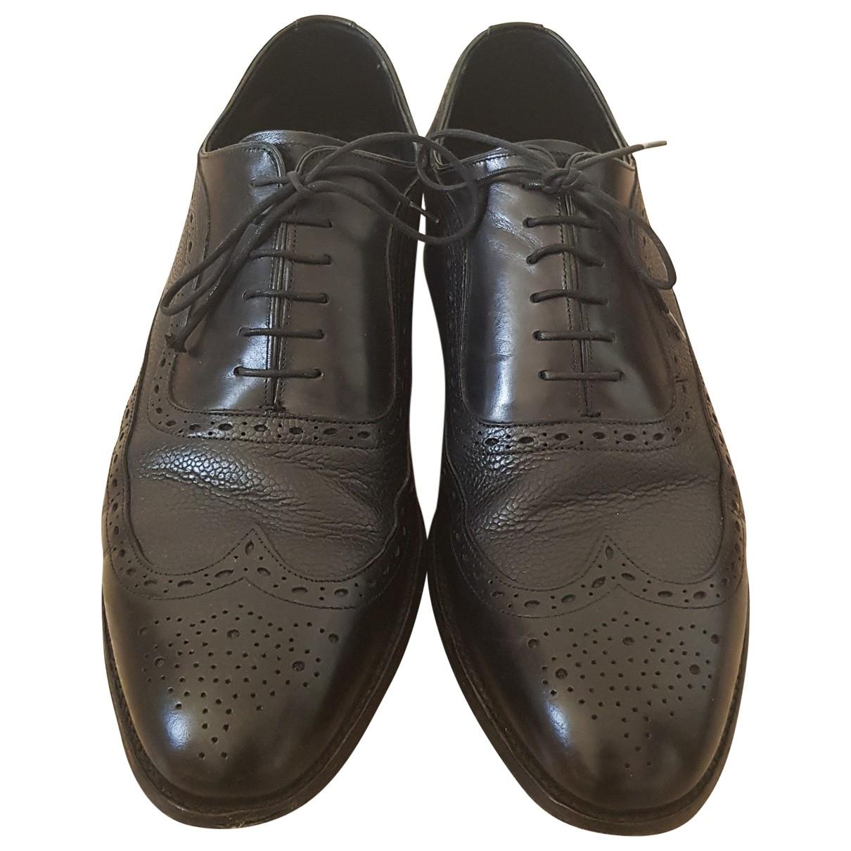 Barker \N Black Leather Lace ups for Men 45 EU