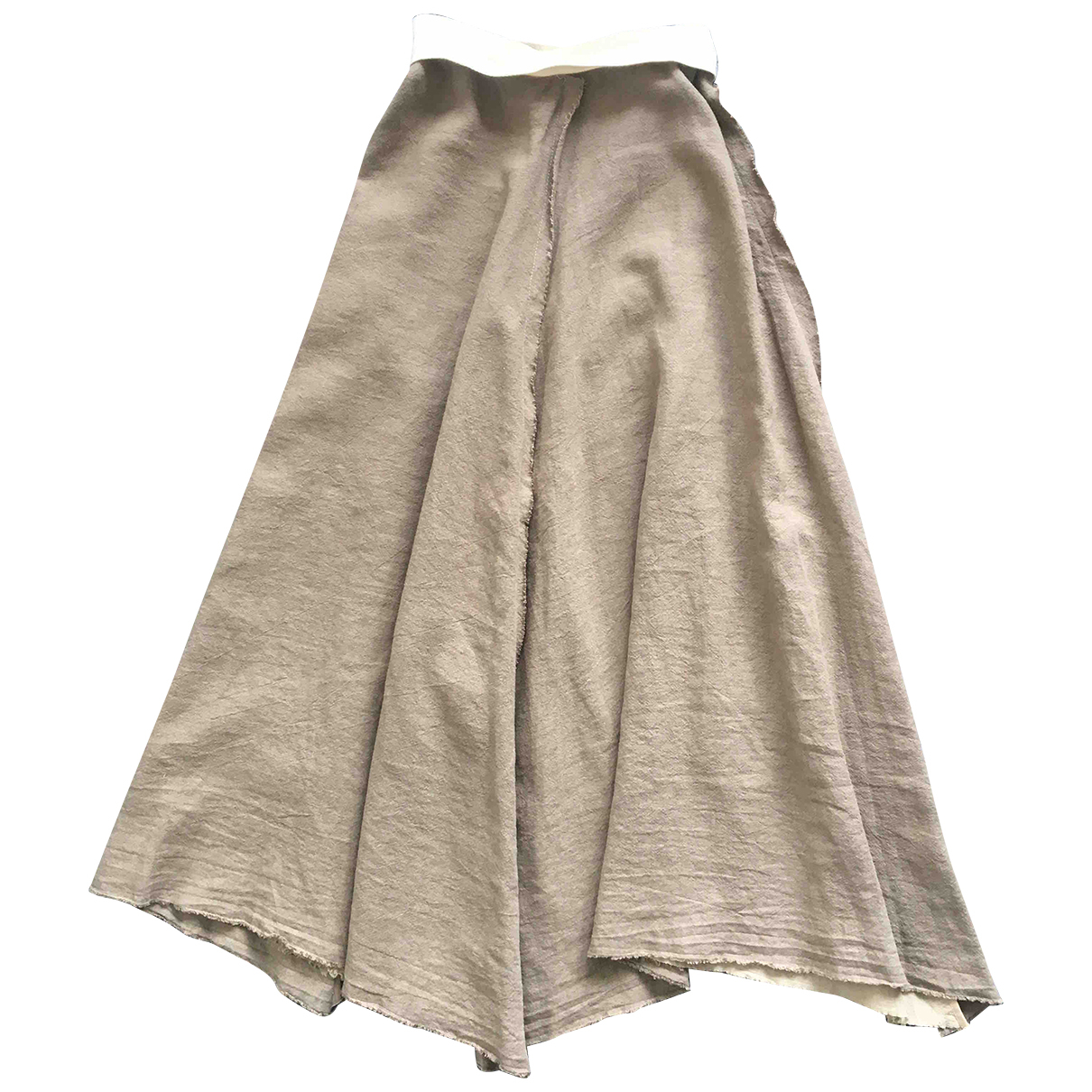 Loewe - Jupe   pour femme en lin - marron