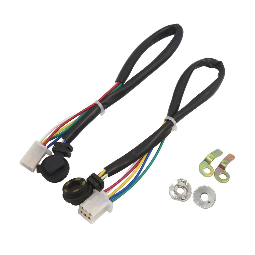 2pcs Gear Position Sensor Wiring Wire Neutral  Switch for Dayang - Black (Black)