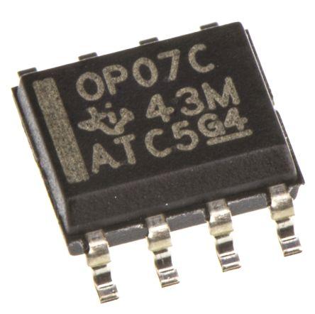 Texas Instruments OP07CD , Precision, Op Amp, 600kHz, 8-Pin SOIC (10)