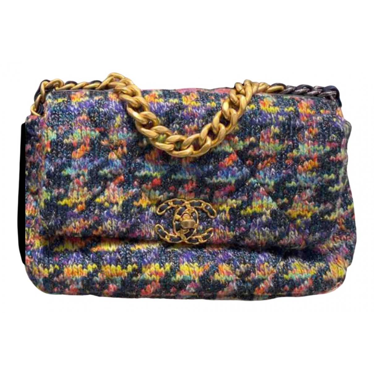 Chanel Chanel 19 Handtasche in  Bunt Tweed