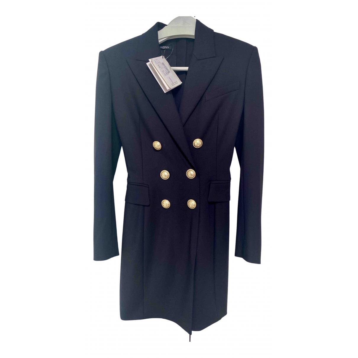Balmain - Robe   pour femme en laine - noir
