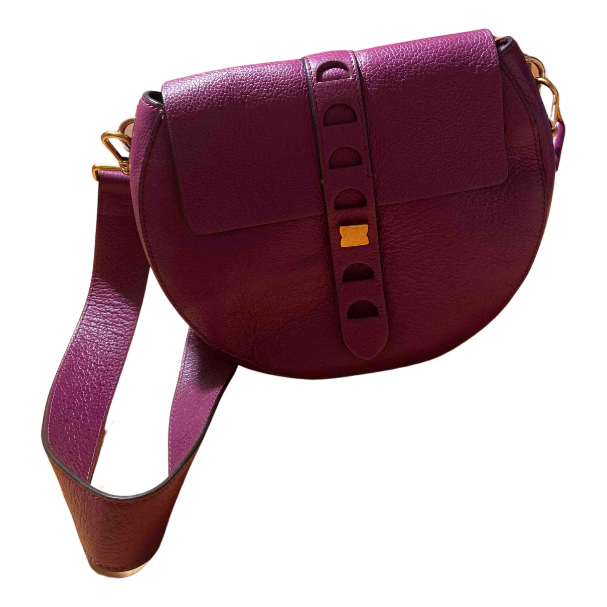 Coccinelle \N Purple Leather handbag for Women \N