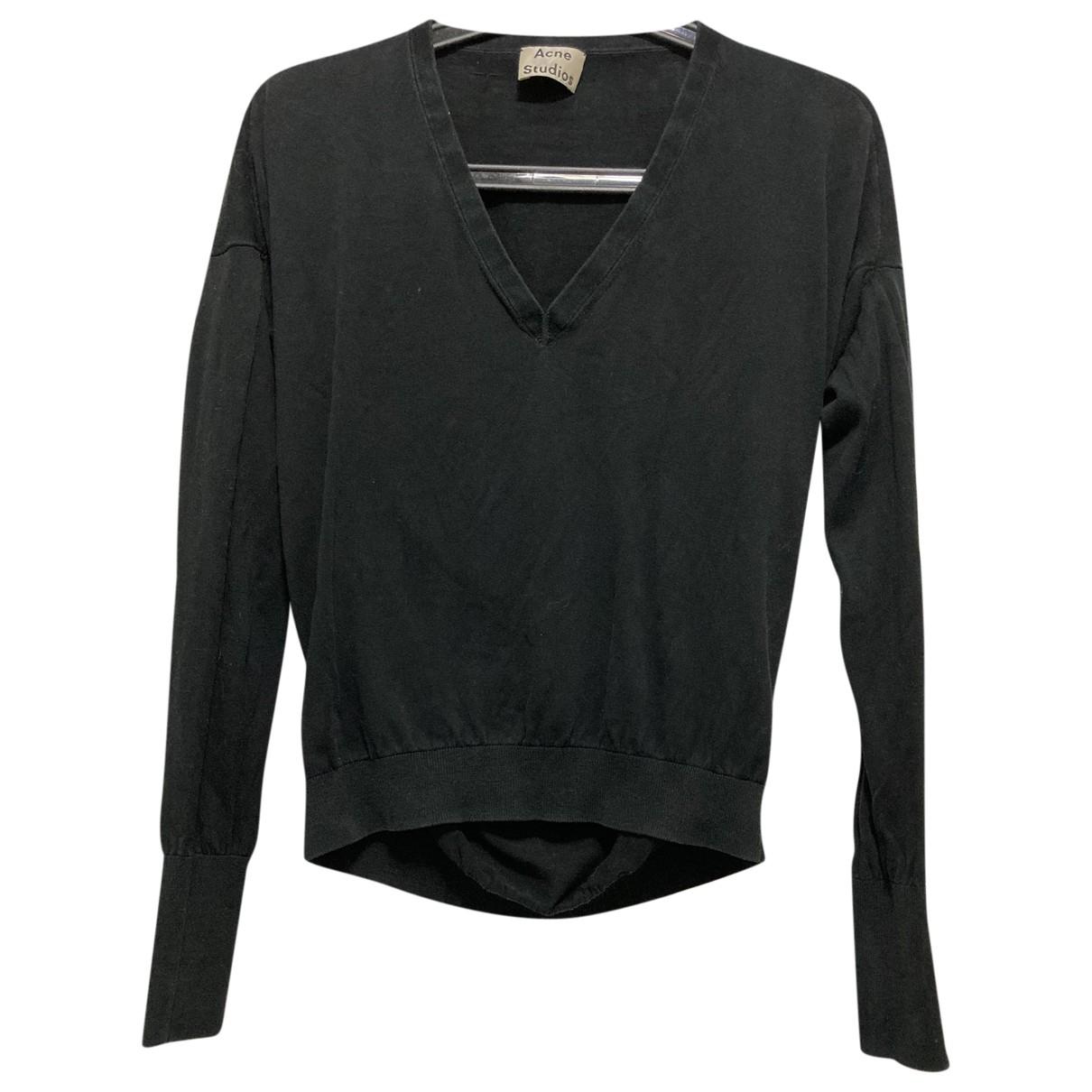Acne Studios \N Black Cotton Knitwear for Women XXS International
