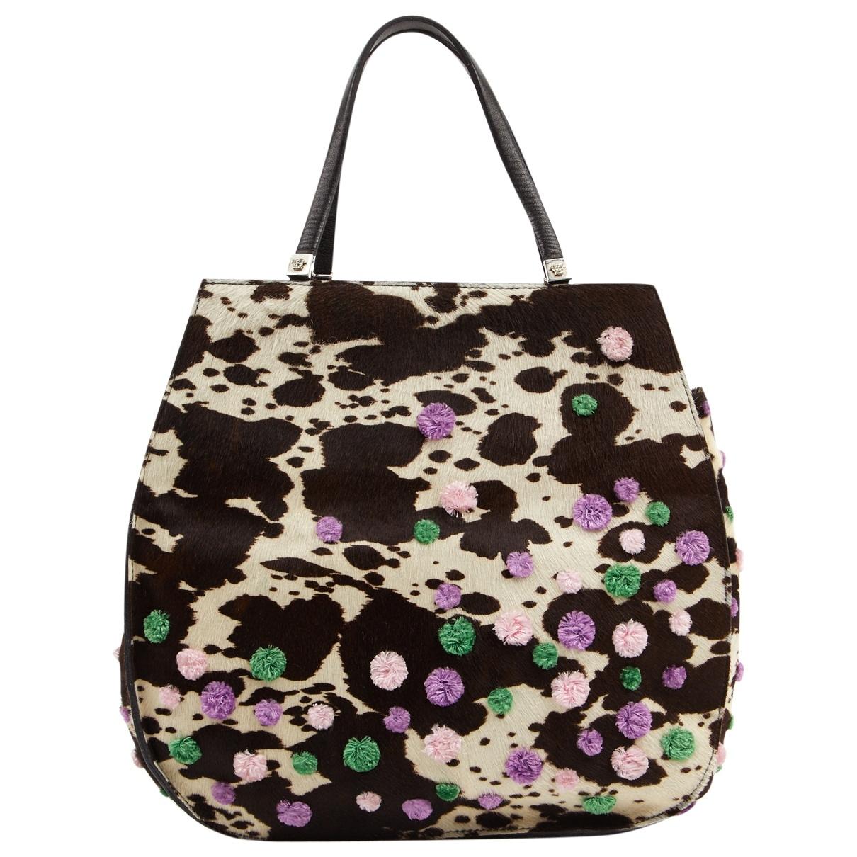 Gianni Versace \N Multicolour Pony-style calfskin handbag for Women \N