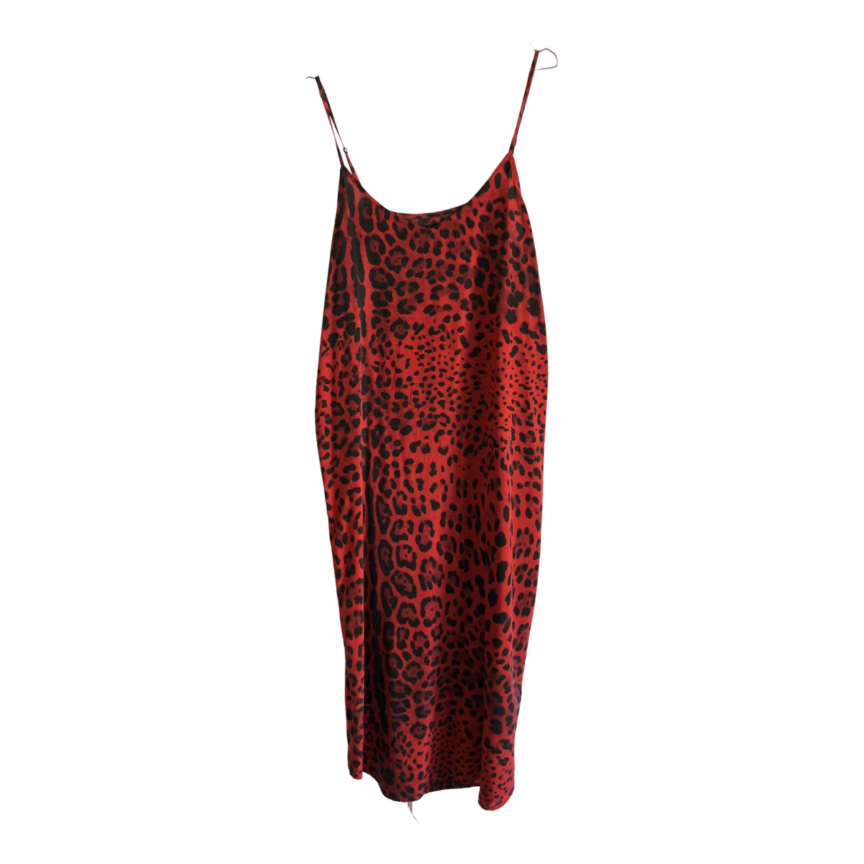 Non Signe / Unsigned Oversize Kleid in  Rot Seide