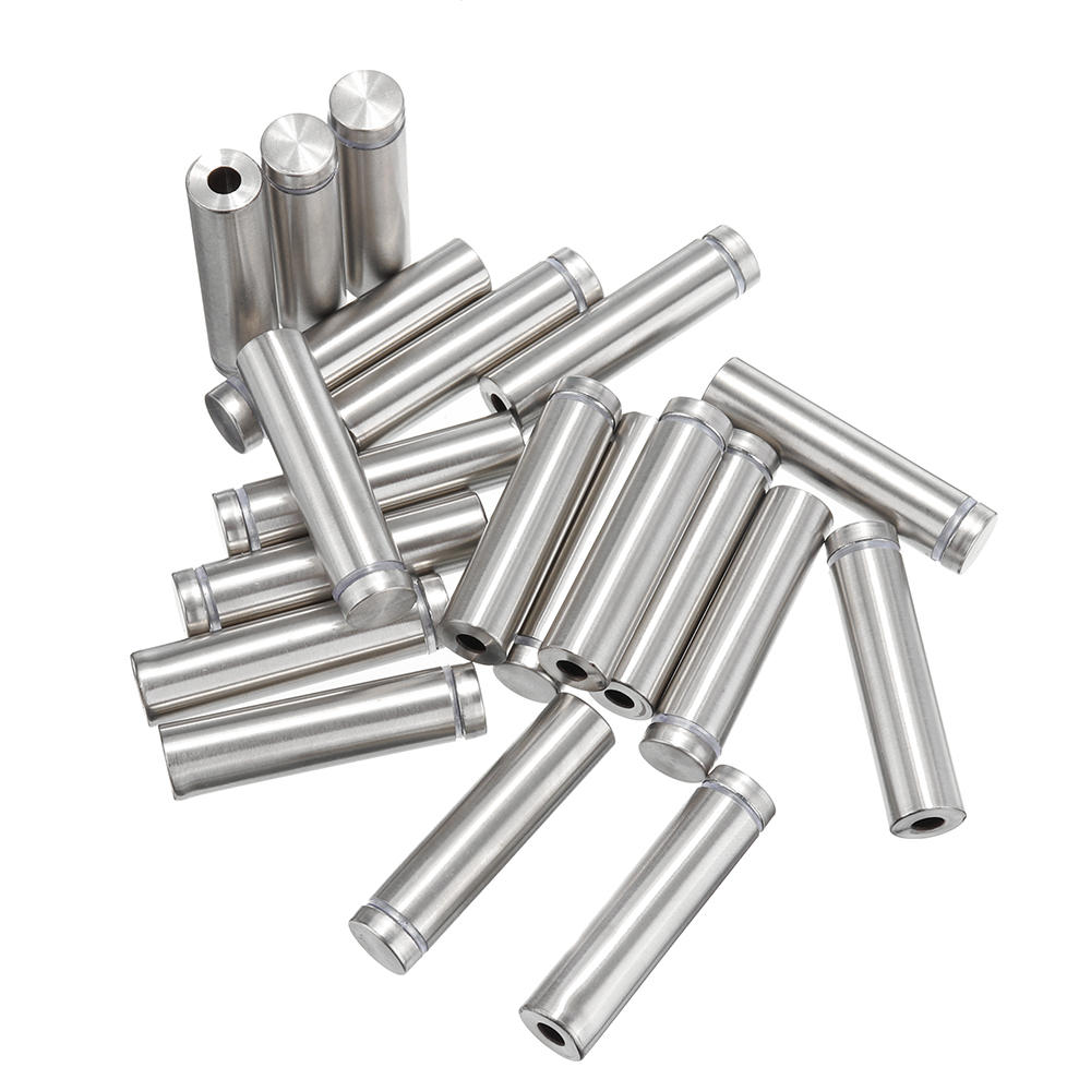 20Pcs/Set 12mm Stainless Steel Advertisement Nails Stone Wall Mount Glass Sign Standoff Bolt Pin Fixing Screw Kits for A