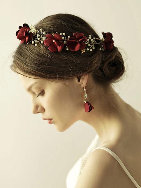 Milanoo Headpiece Wedding Accessory Flower Metal Hair Accessories For Bride