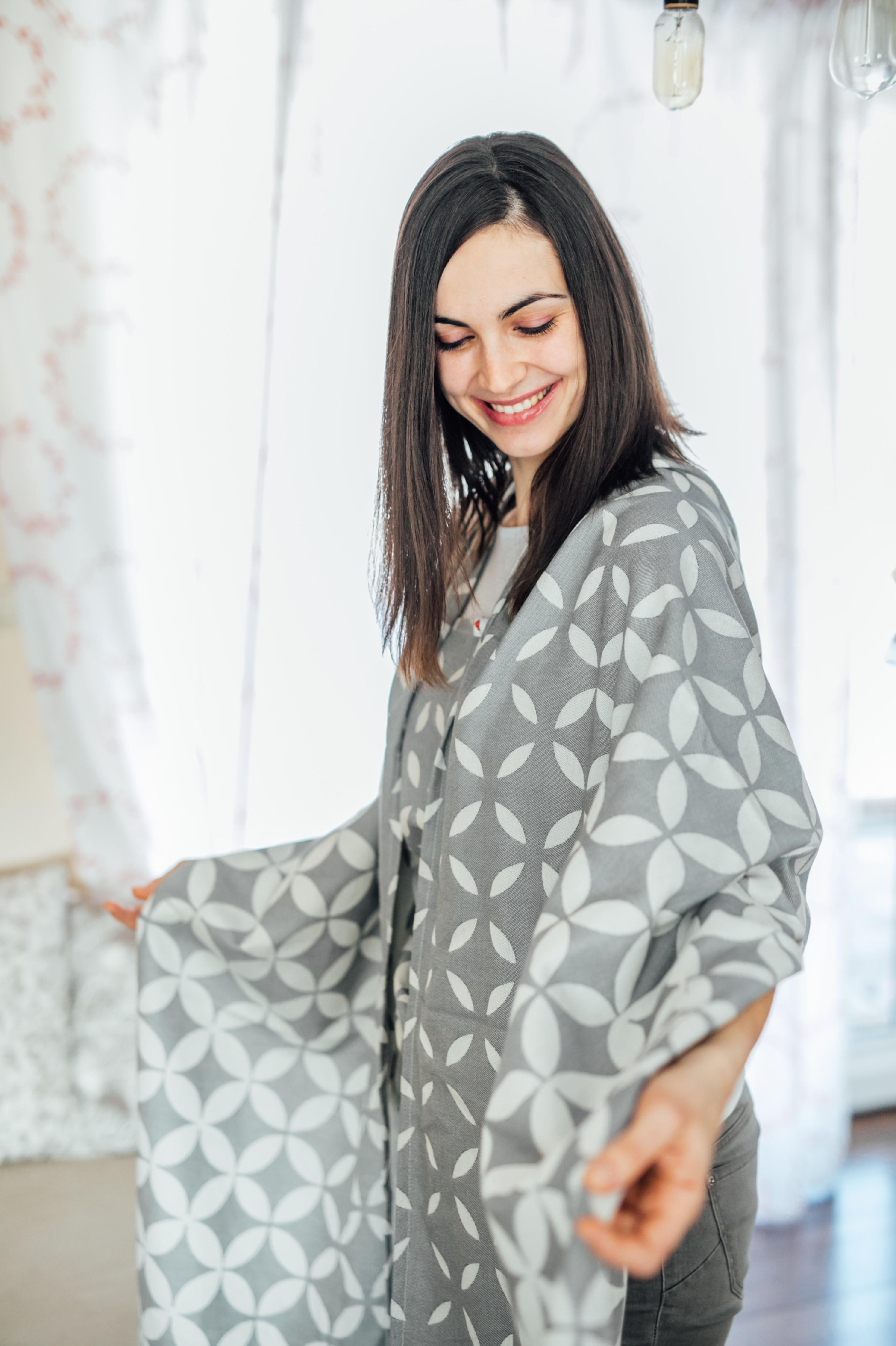 Tragetuch Be Lenka Classic - grey 4,2 m