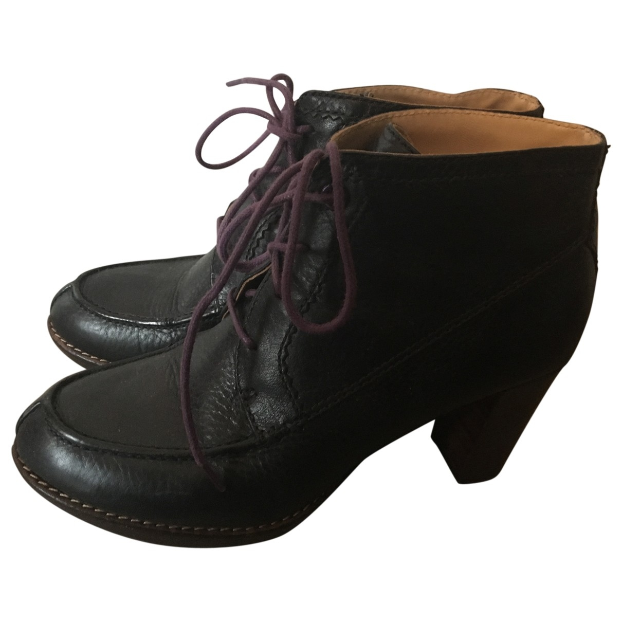 Paul Smith \N Black Leather Ankle boots for Women 39 EU