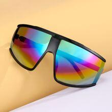 Sonnenbrille mit Regenbogen Linsen
