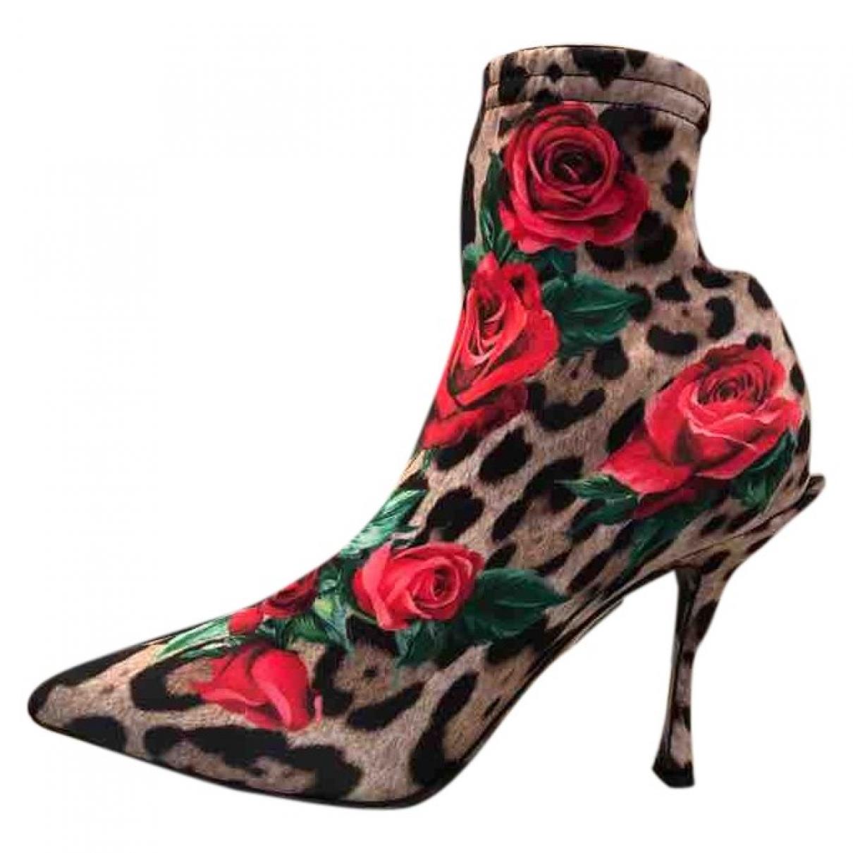 Dolce & Gabbana \N Stiefeletten in  Bunt Leinen