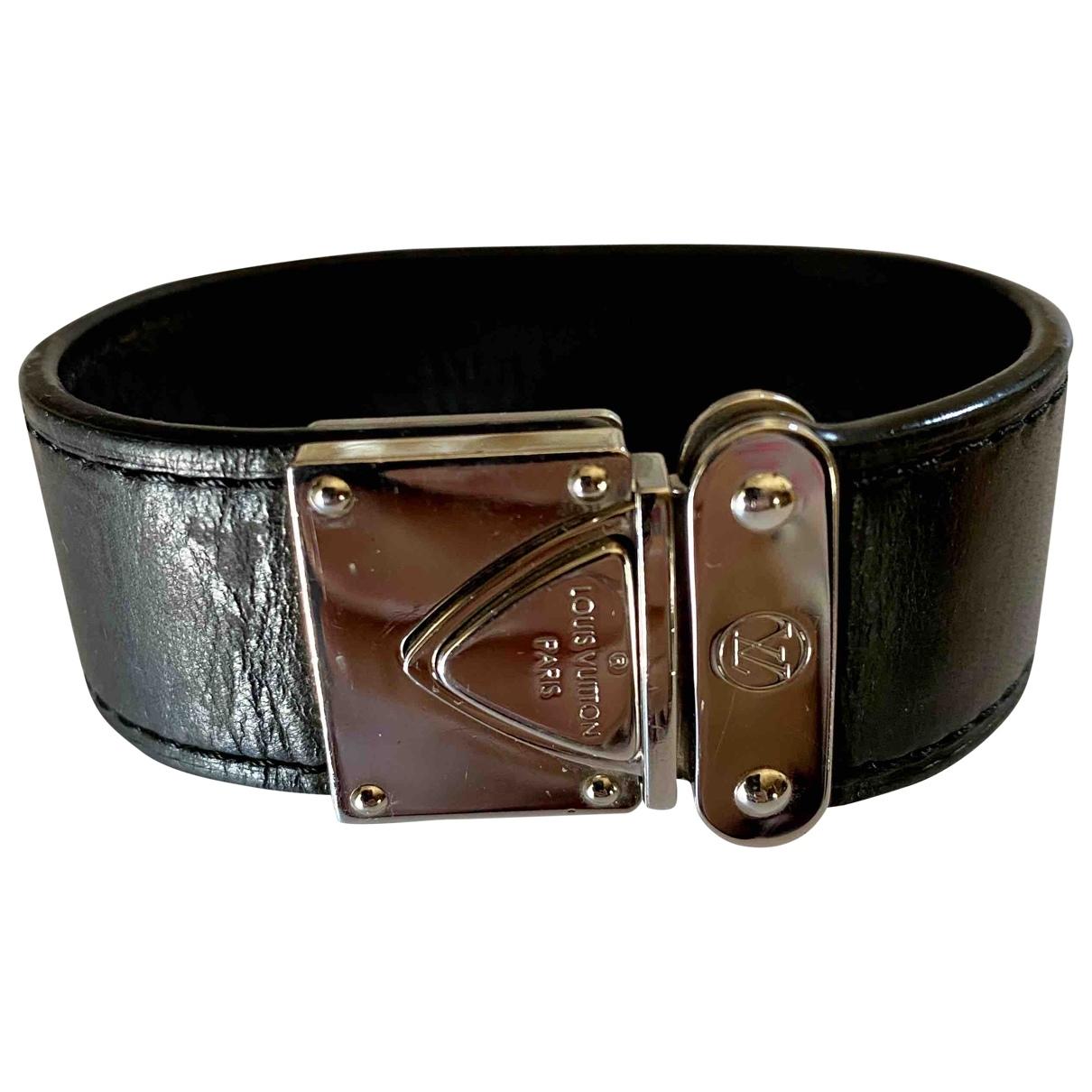 Louis Vuitton - Bracelet   pour femme en cuir - noir