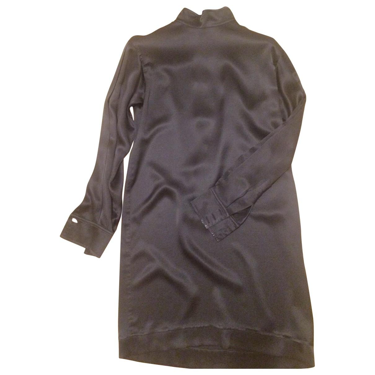 Yves Saint Laurent - Robe   pour femme en soie - noir