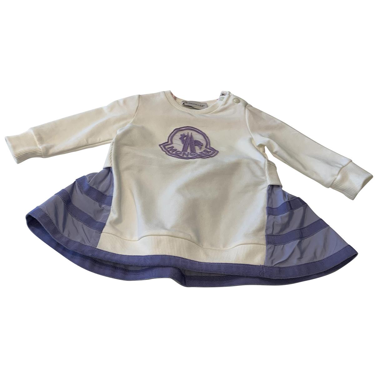 Moncler \N Kleid in  Weiss Baumwolle