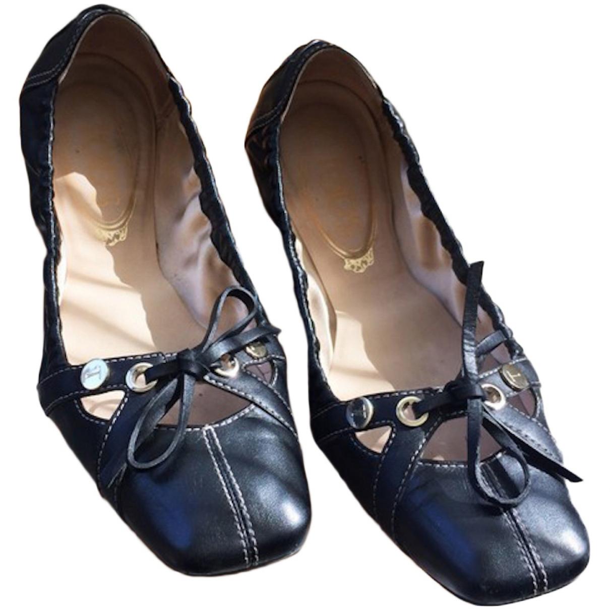 Tod's \N Black Leather Ballet flats for Women 37 EU