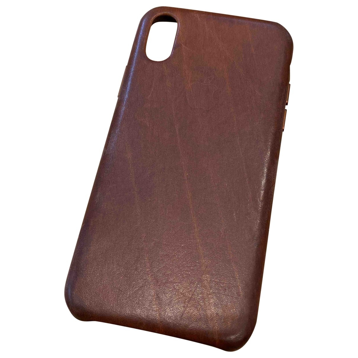 Apple \N Brown Leather Accessories for Life & Living \N