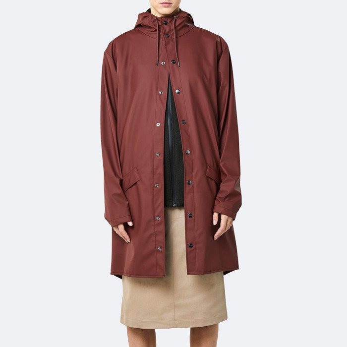 Rains Long Jacket 1202 MAROON