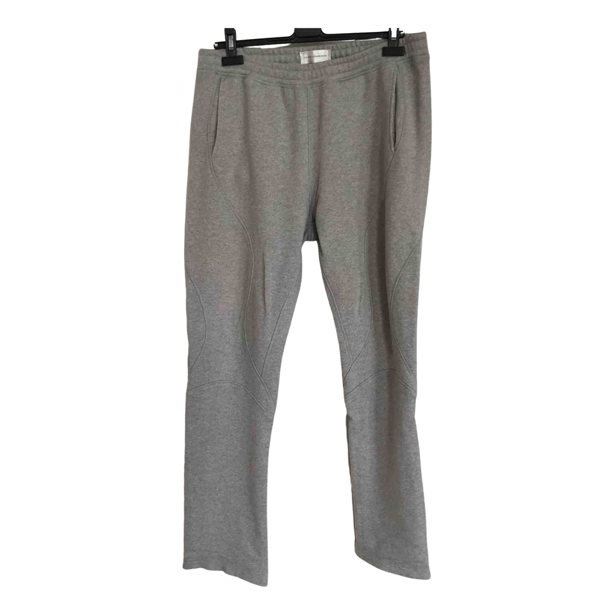 Faith Connexion \N Grey Cotton Trousers for Men M International