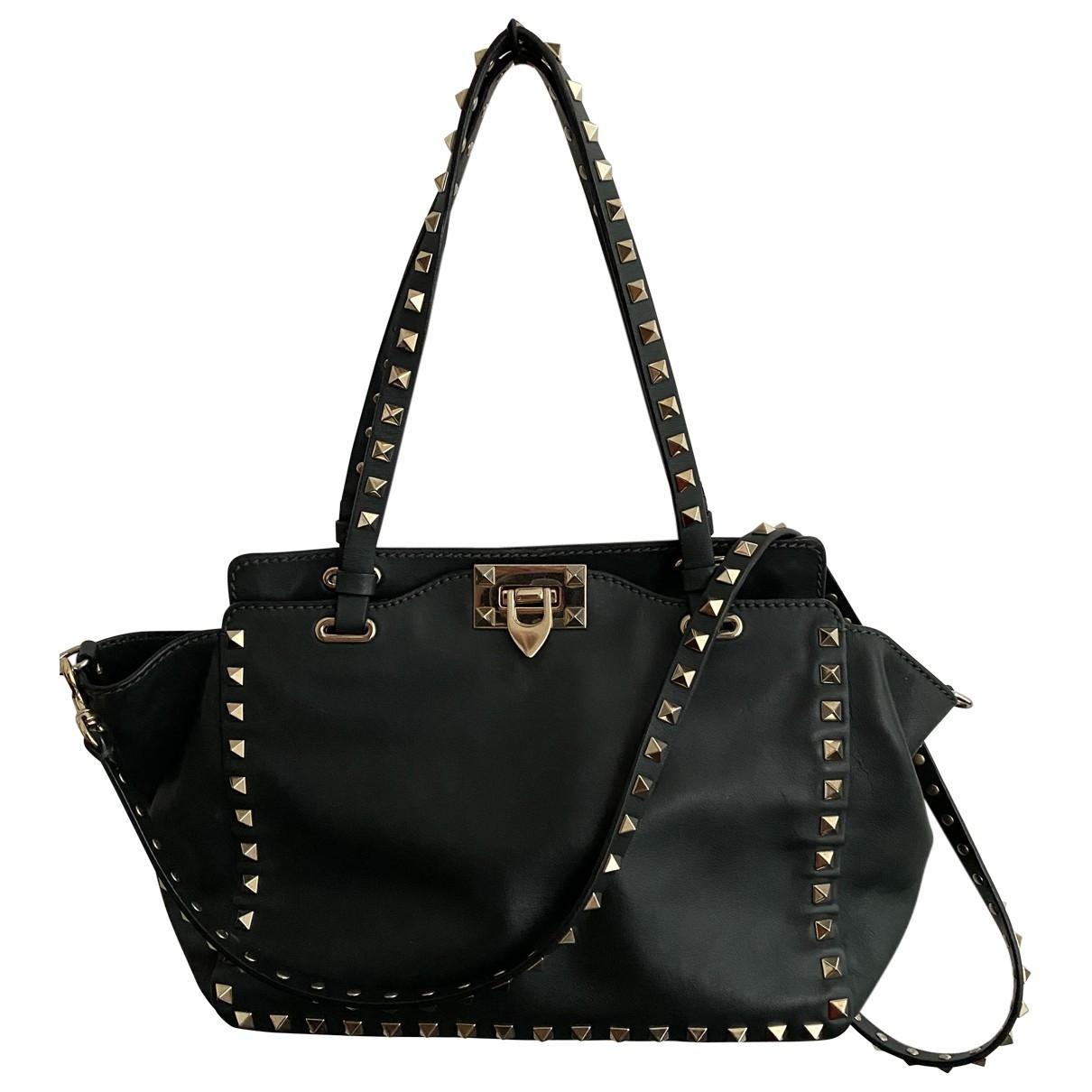 Valentino Garavani Rockstud Green Leather handbag for Women \N