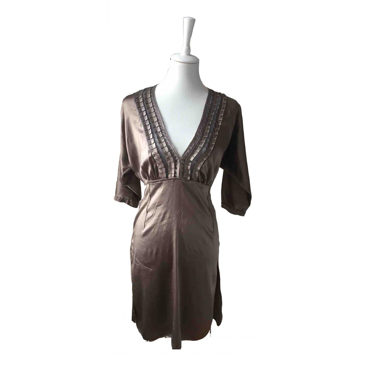 Bruuns Bazaar \N Kleid in  Ecru Seide