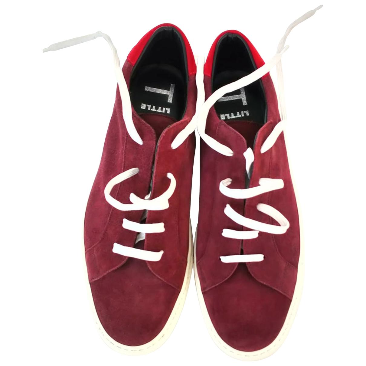 Grenson \N Sneakers in  Rot Leinen