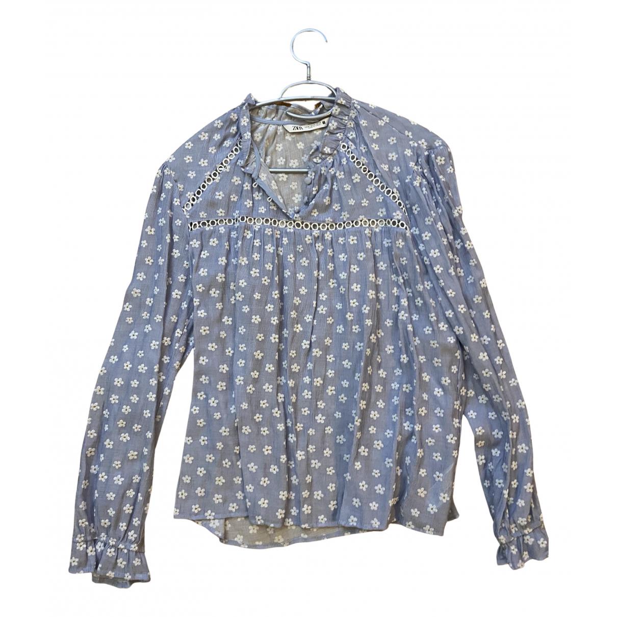 Zara N Blue  top for Women 38 FR