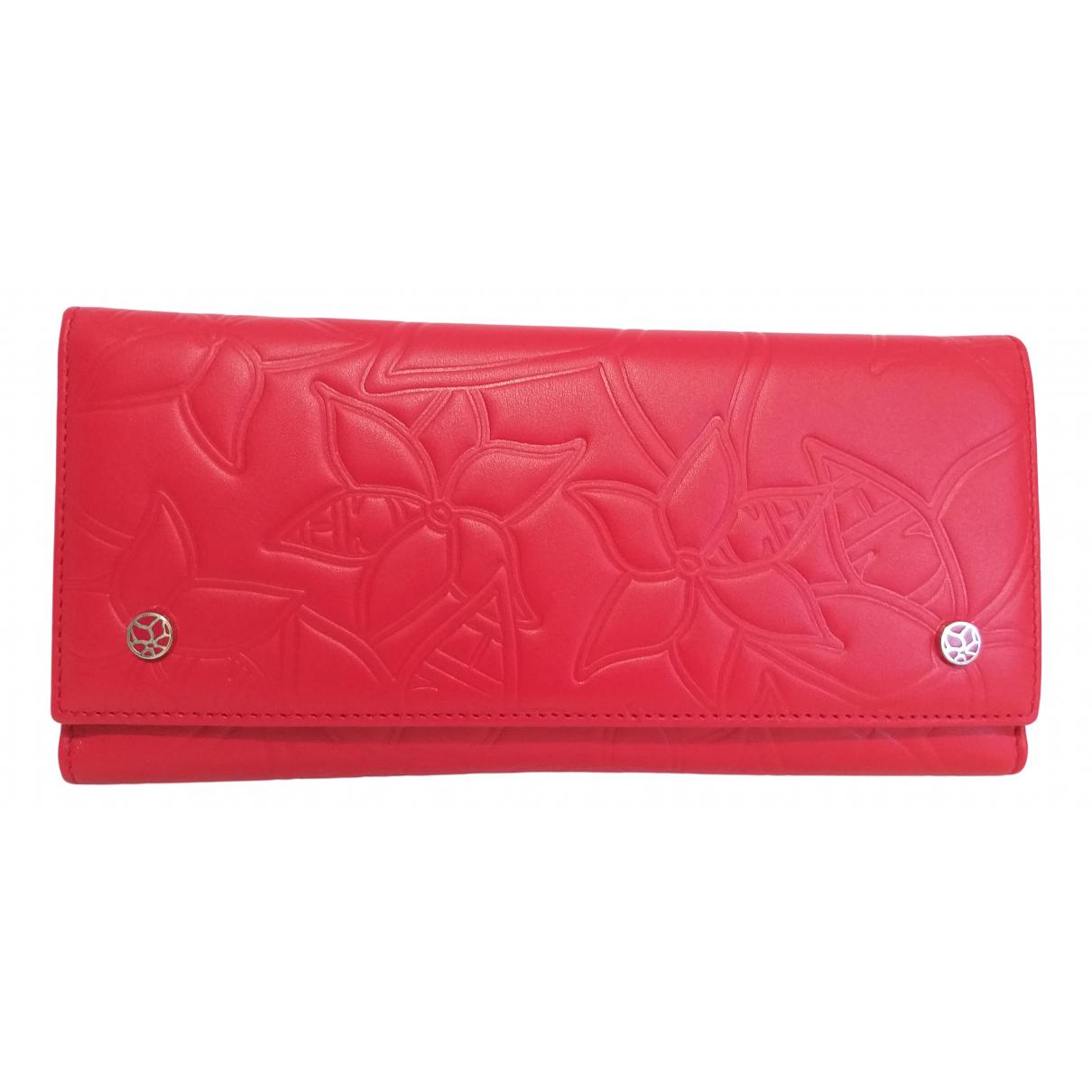 Carolina Herrera - Portefeuille   pour femme en cuir - rouge