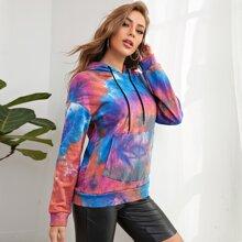 Verschiedenfarbig Ziehbaendchen Batik  Laessig Sweatshirts