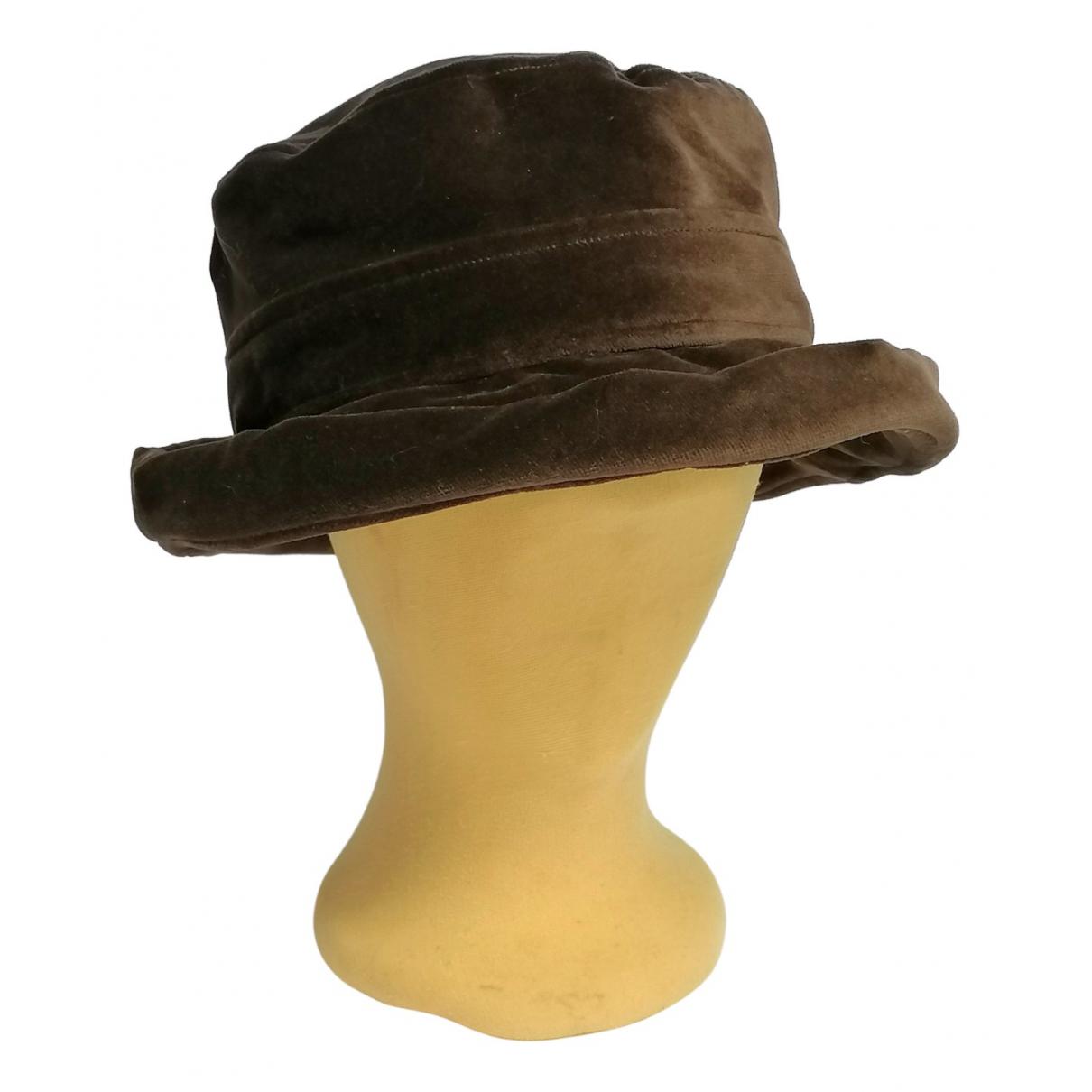 - Chapeau   pour femme en coton - marron