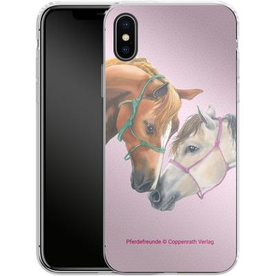 Apple iPhone X Silikon Handyhuelle - Pferdefreunde Freundschaft von Pferdefreunde