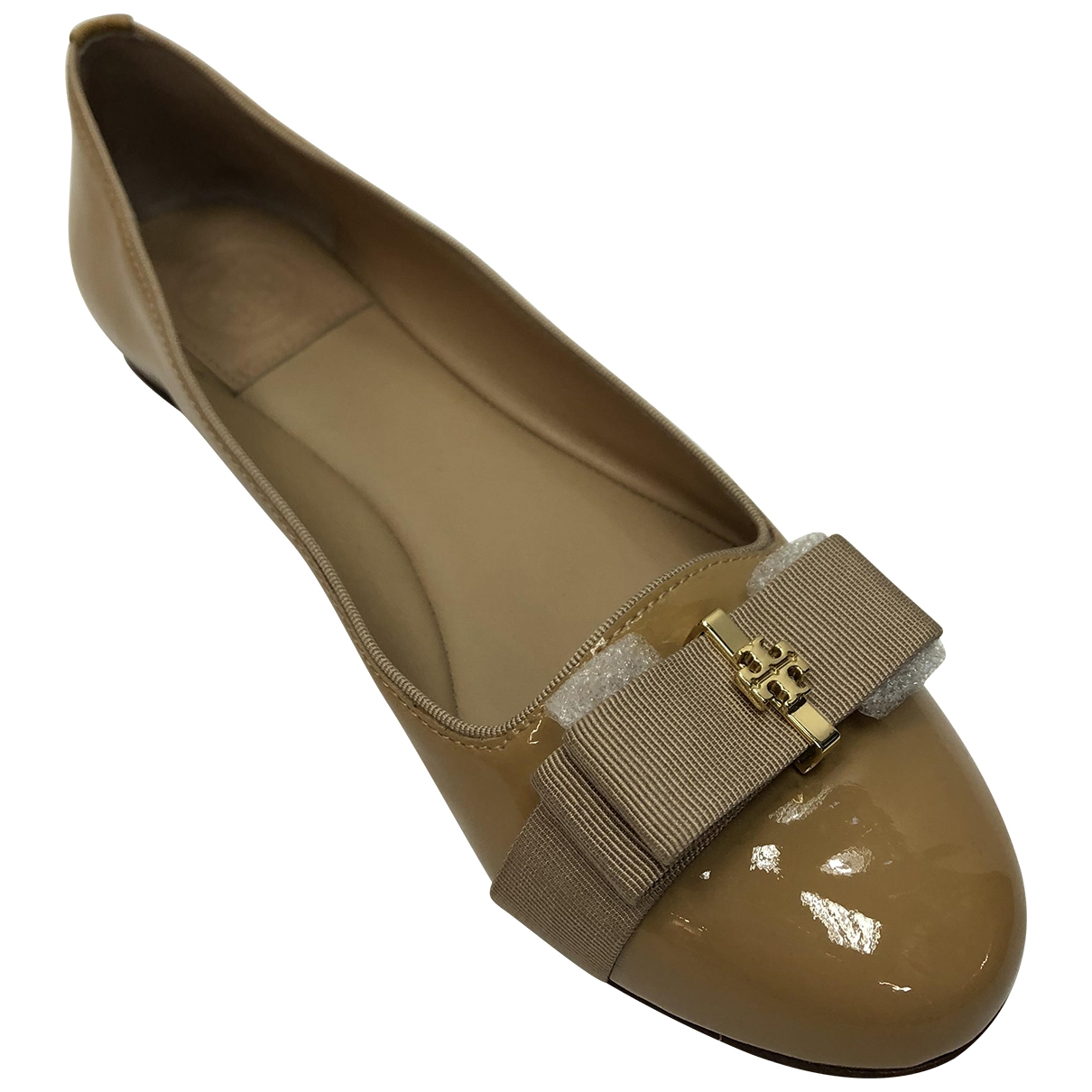 Tory Burch \N Ballerinas in  Gelb Lackleder