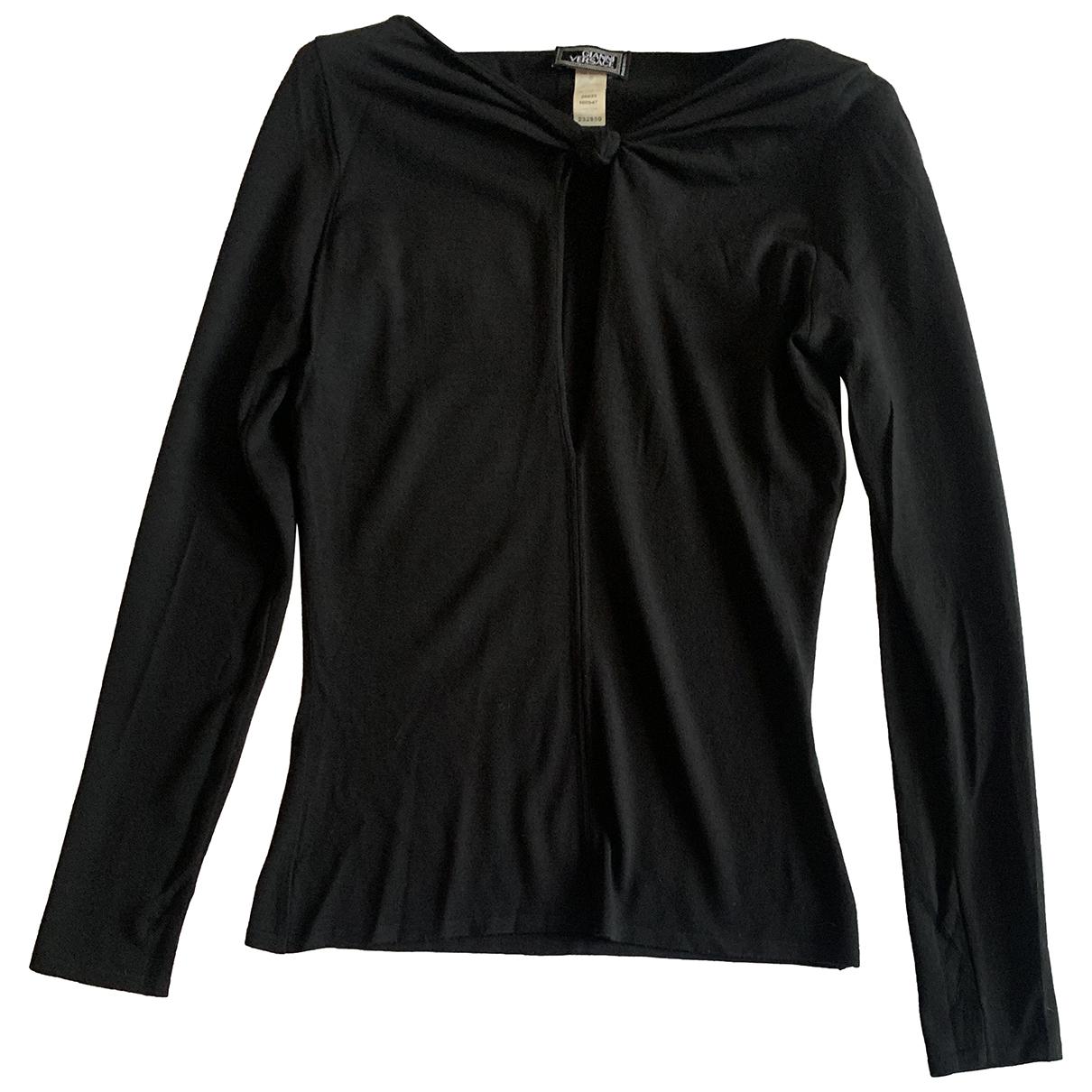 Gianni Versace - Pull   pour femme en laine - noir