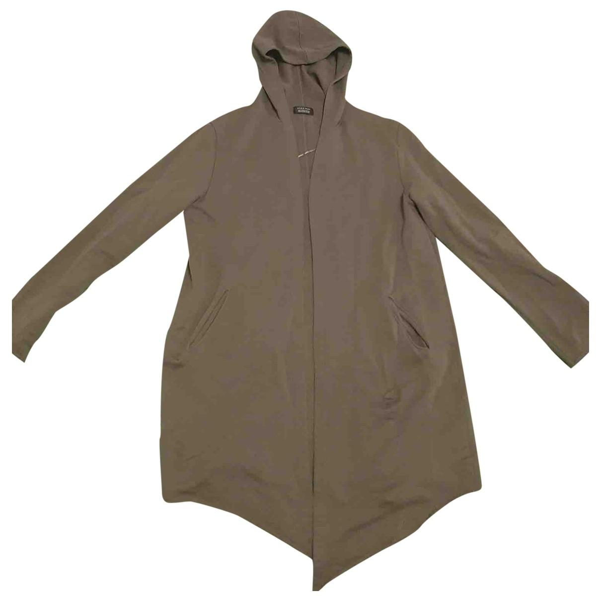 Zara \N Pullover.Westen.Sweatshirts  in  Khaki Baumwolle