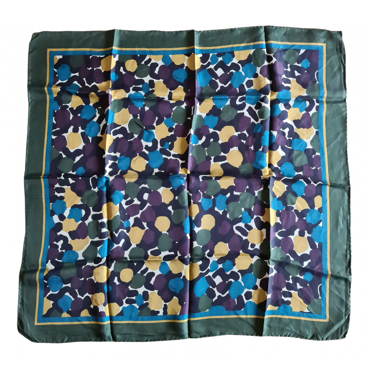 Burberry N Green Silk Silk handkerchief for Women N