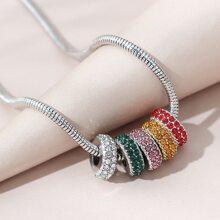 Collar con diseño de diamante de imitacion vistoso